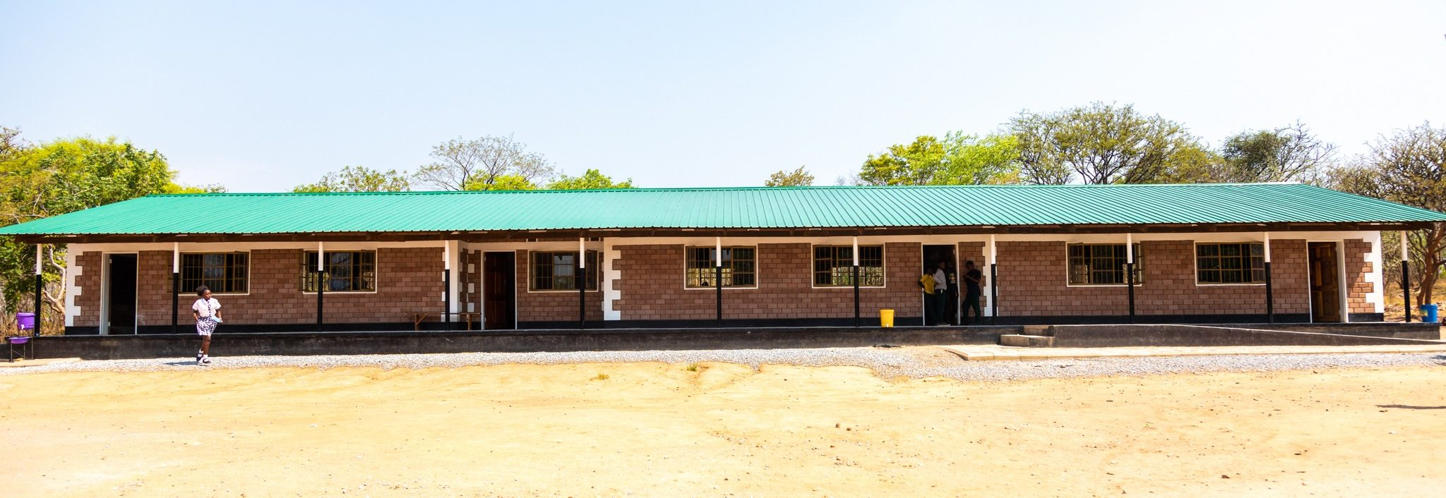 New classrooms at Naluyanda Primary School