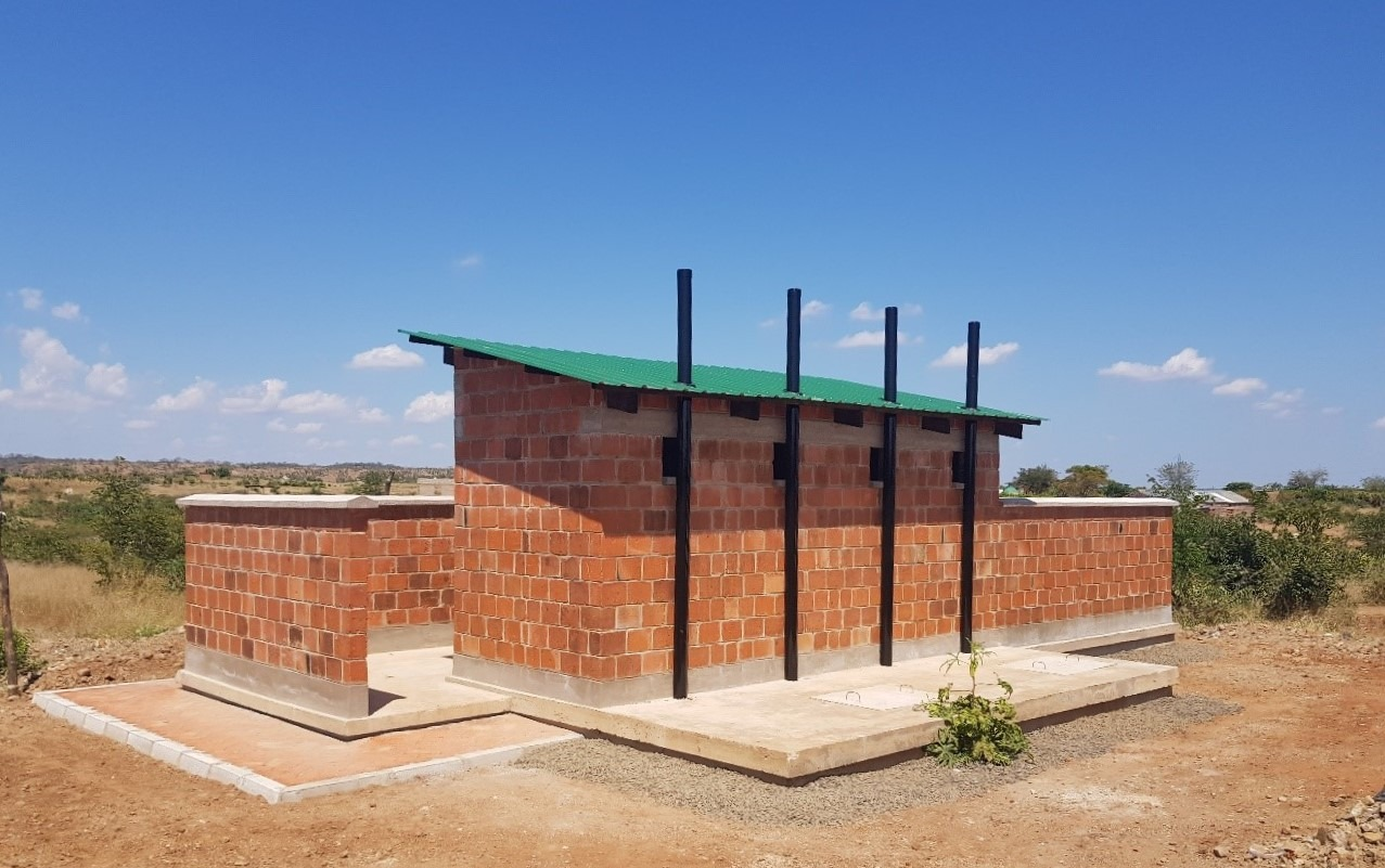 Latrine block at Light of Hope Community School