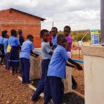 New hand wash station at Light of Hope Community School