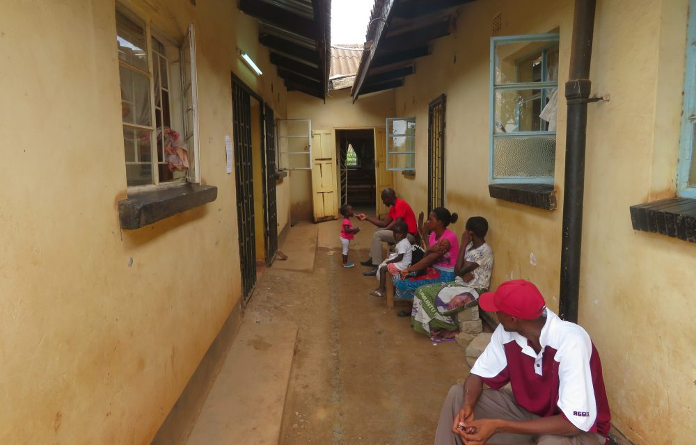 Outside waiting area to Maternal and Child Health at Libuyu Health Centre